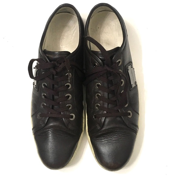 Dolce & Gabbana Other - Dolce & Gabbana Men's Brown Leather Sneakers